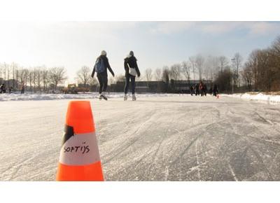 Bouwput wordt schaatsbaan