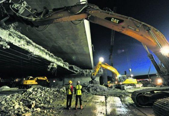 Bouwfoto van de Dag: Sloop Noordzeebrug