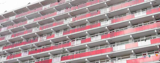 Minder appartementen in grote steden