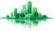Stock groen gebouw 80x46