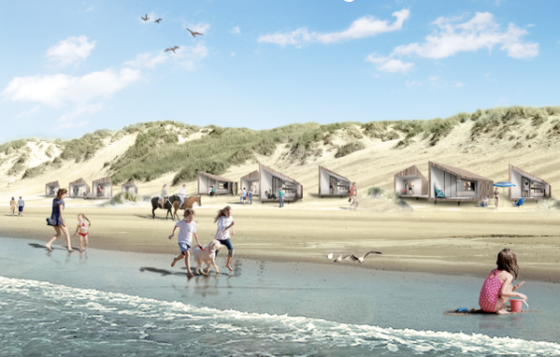 Bouw huisjes op strand Petten definitief gegund