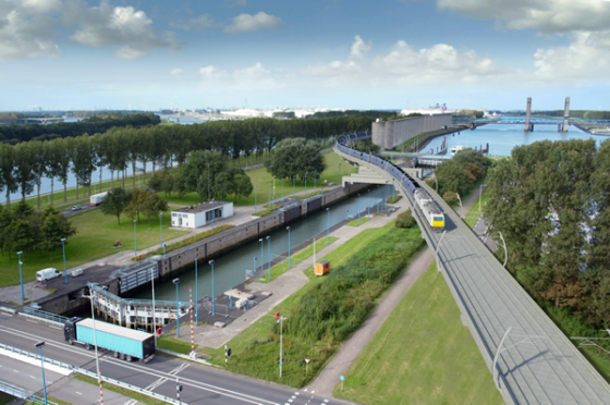 Theemswegtracé Calandbrug krijgt voorkeur Mansveld