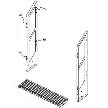 Zelfdragende modulaire trap met instelbare optrede