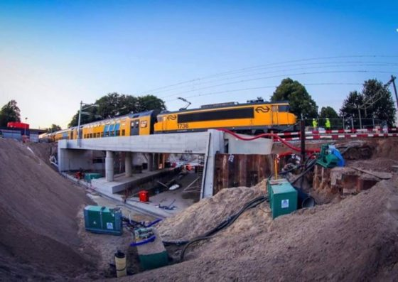 Lezersfoto: Treinen over nieuwe tunnels