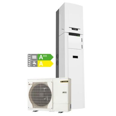 Hybride lucht/water-warmtepomp voor nieuwbouw en renovatie