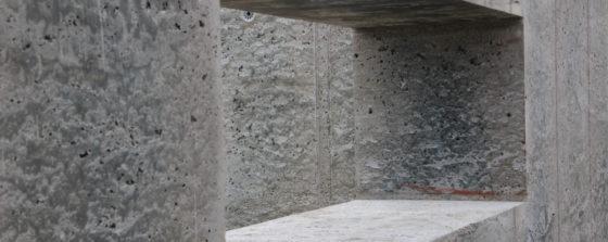 Proefwanden van isolerend ultralicht beton bij Mebin