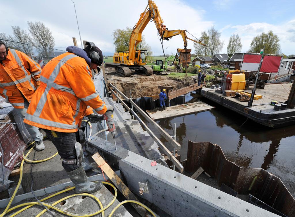 Verwijdering damwandplanken
