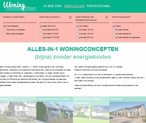 Woningconcepten.nl: 'Doet u mij díe maar'