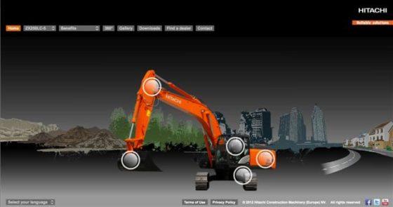 Hitachi lanceert nieuwe Zaxis-5-website