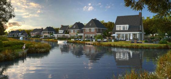 Luxe villa's langs de Hollandsche IJssel in Haastrecht