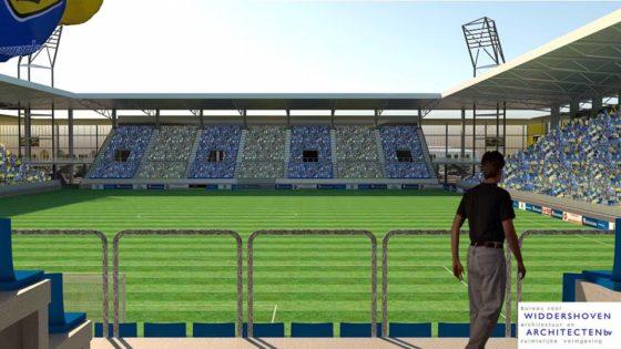Nieuw voetbalstadion SC Cambuur krijgt 'Engelse uitstraling'