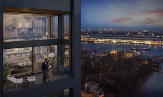 Energieopwekkende ramen in nieuwe woontoren Amsterdam