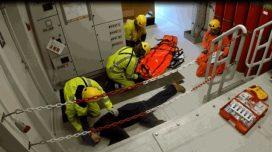 Emergency Response oefening op Prinses Amaliawindpark