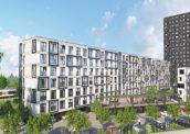 Woonwijkje op locatie voormalig belastingkantoor Utrecht
