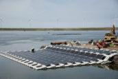 Drijvende zonnepanelen in Slufter