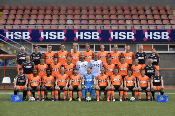 2017-07-06 15:05:27 VOLENDAM  - Groepsfoto van voetballers en staf bij FC Volendam in het seizoen 2017-2018,   ANP - COPYRIGHT DIJKSTRA BV