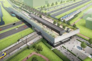 A12  dicht voor 61 meter lange liggers station Lansingerland