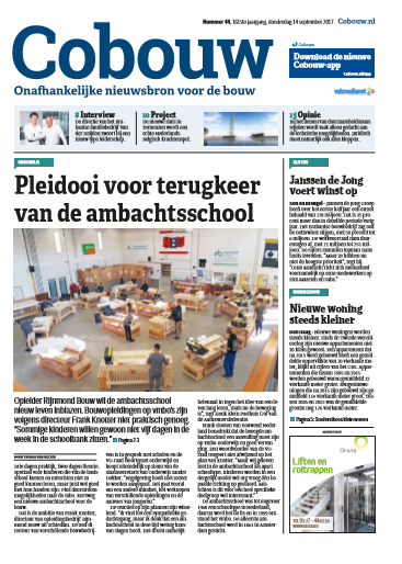 Cobouw 14 september 2017