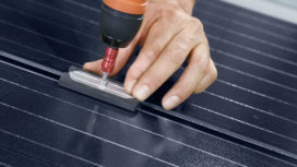 Frameloze solar zonnepanelen voor felsdaken