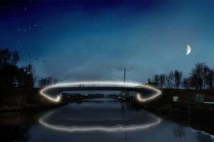 Hengelo krijgt eerste nul-op-de-meter brug van Nederland