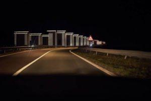 Roosegaarde pimpt Afsluitdijk op met bijzonder lichtspel