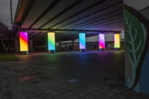 Dynamische lichtzuilen doorbreken psychologische barriere