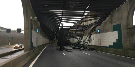 Schade aan Zeeburgertunnel in een nacht gerepareerd