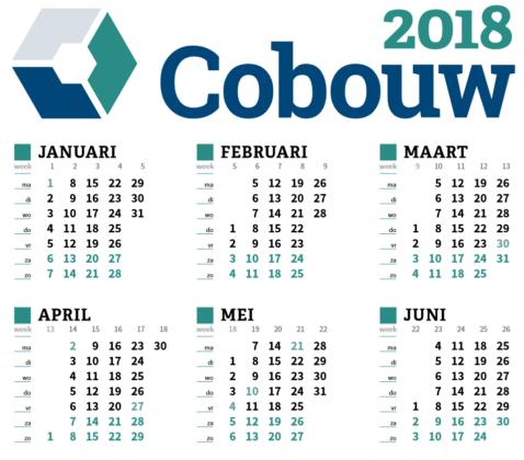 Cobouw Kalender 2018 digitaal verkrijgbaar