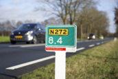 Zelfs de hectometerpaaltjes zijn biobased langs de N272