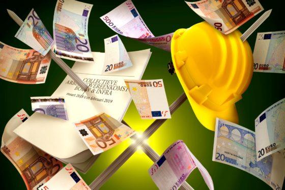 Nieuwe bouw-cao rond: 5,35 procent meer loon voor bouwvakkers
