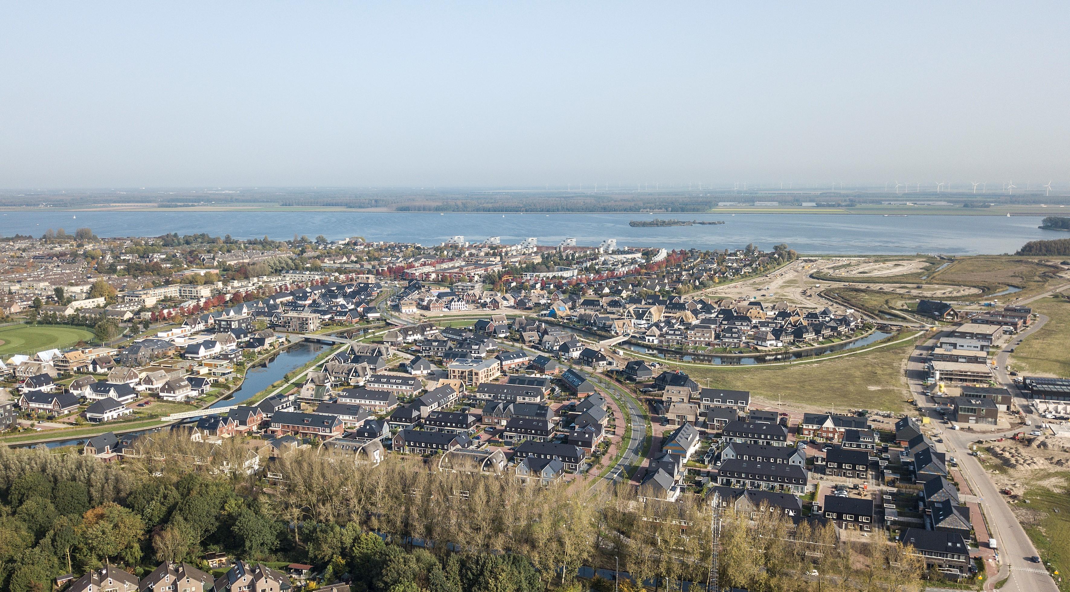 Blaricummermeent, nieuwbouwwijk met straks duizend woningen. Foto: gemeente Blaricum