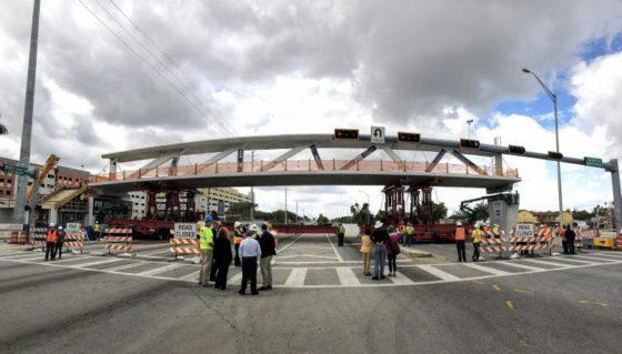Ingenieur waarschuwde voor scheuren in constructie rampbrug Miami (update)