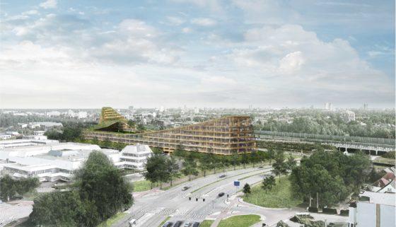 's Werelds grootste houten gebouw staat in 2020 in Veldhoven