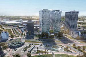 Marconitoren in Rotterdam worden getransformeerd tot de 'Lee Towers'