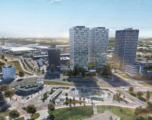 Marconitorens in Rotterdam worden getransformeerd tot de 'Lee Towers'