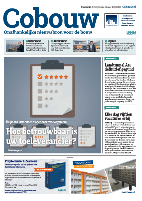 Cobouw 3 april 2018