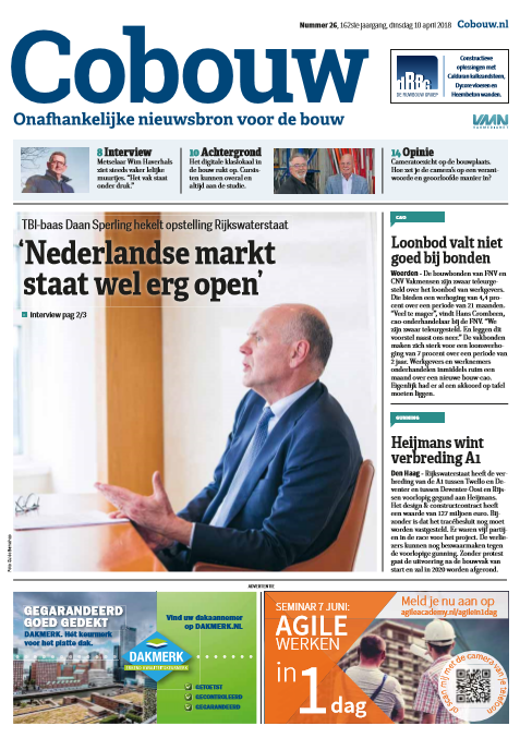 Cobouw 10 april 2018