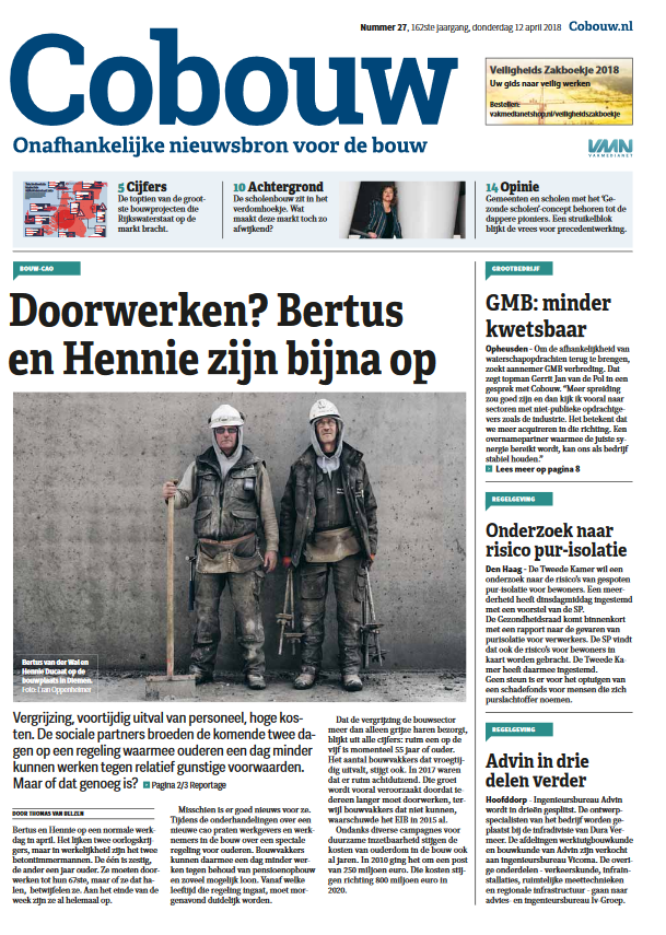 Cobouw 12 april 2018