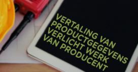 Vertaling van productgegevens verlicht werk van producent