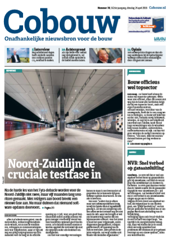 Cobouw 24 april 2018