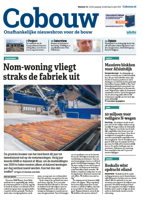 Cobouw 26 april 2018