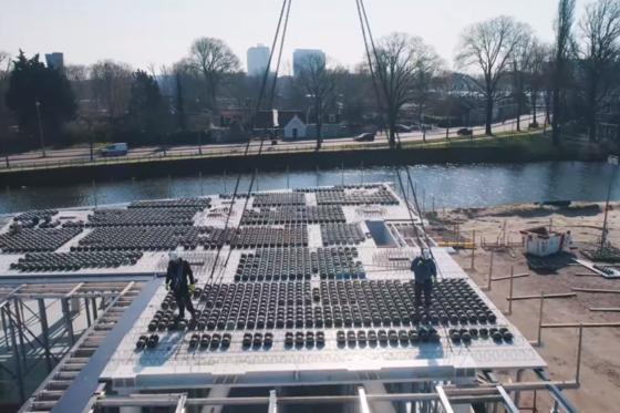 Schoolgebouw met bollenvloeren doorstaat glansrijk belastingproef