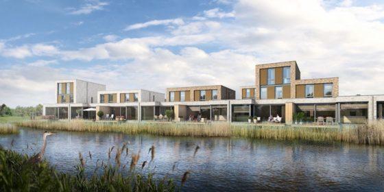 Watervilla's op nieuw eilandje bij Arnhem