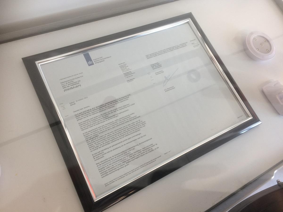 brief van inspectie szw over minicontainment asbest