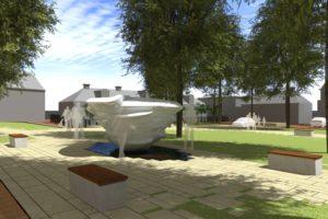 Maaiveld | Dokkum krijgt ijsfontein die smelt in de zon