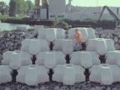 BAM en Van Oord testen blok voor Afsluitdijk