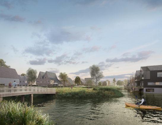 'Eilanden van Hain' Krommenie gebaseerd op oude polders Zaanstreek