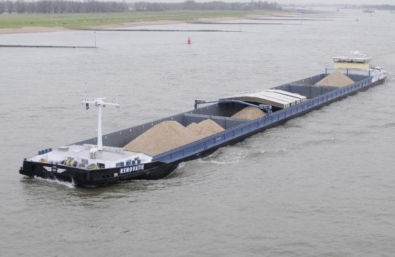 Flink minder zand, steen en grind naar Nederland vervoerd in 2018