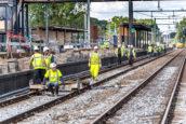 """Reportage   BAM zweet 24/7 bij station Driebergen: """"Soms gaan de hakken in het zand"""""""
