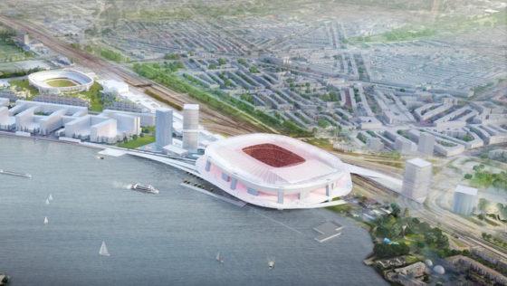 BAM en Besix gaan meedraaien in bouwteam Feyenoord-stadion